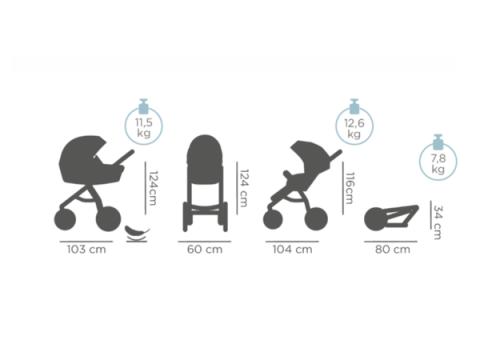 TUTIS UNO Universālie bērnu ratiņi 3*1